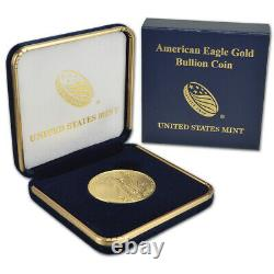 2021 American Gold Eagle 1 oz $50 BU coin in U. S. Mint Gift Box