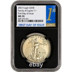 2021 American Gold Eagle 1 oz $50 NGC MS70 First Day of Issue 1st Label Black