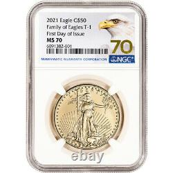 2021 American Gold Eagle 1 oz $50 NGC MS70 First Day of Issue Grade 70