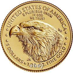 2021 American Gold Eagle Type 2 1/10 oz $5 BU