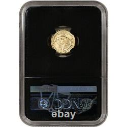 2021 American Gold Eagle Type 2 1/10 oz $5 NGC MS70 First Day Issue 70 Black