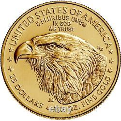 2021 American Gold Eagle Type 2 1/2 oz $25 BU