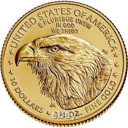 2021 American Gold Eagle Type 2 1/4 oz $10 BU
