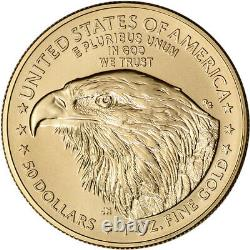 2021 American Gold Eagle Type 2 1 oz $50 PCGS MS70 First Strike