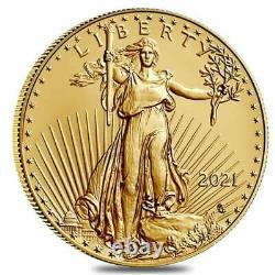 2021 Type 2 1/10 oz AMERICAN GOLD EAGLE $5 UNCIRCULATED ROUND FREE SHIPPING