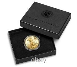 2021-W 1/2 American Eagle One-Half Ounce Gold Proof Coin 21ECN Type 2 Sealed Box