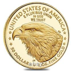 2021-W 1 oz $50 Proof Gold American Eagle Type 2 PCGS PF 70 FS DCAM