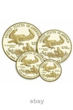 2021 W 21EF American Eagle 2021 Gold Proof Four-Coin Set CONFIRMED