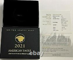 2021 W $50 1 OZ NGC PF70 ER ULTRA CAMEO PROOF GOLD EAGLE T-2 With BOX & COA TYPE 2