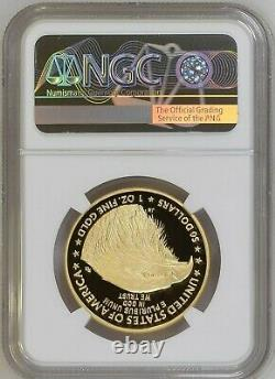 2021-W $50 Proof Gold American Eagle 1 Ounce Type 2 NGC PF69 Ultra Cameo