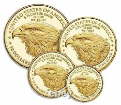 2021-W American Eagle Gold Proof Four-Coin Set (21EFN) Type 2 PRESALE