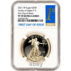 2021 W American Gold Eagle Proof 1 oz $50 NGC PF70 UCAM First Day Issue 1st