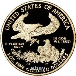 2021 W American Gold Eagle Proof 1 oz $50 in OGP