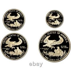 2021 W US American Gold Eagle Proof Four-Coin Set in OGP