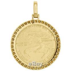 22K Gold American Eagle Liberty Coin 1/4 Oz. Diamond Mounting Pendant 1.06 CT