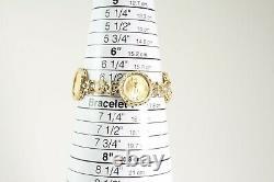 22k Gold 2000 Liberty American Eagle $5 Coin Fleur di Lis 14k Bracelet
