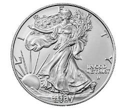 (3 Coins) American Eagle 2021 One Ounce Silver Uncirculated Coin (21EGN) IN HAND