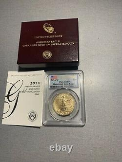 American Eagle 2020 1oz PCGS SP70 Gold Uncirculated Coin 20EH FirstStrike