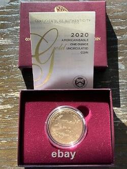 American Eagle 2020-W One Ounce Gold Uncirculated Coin