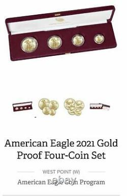 American Eagle 2021 Gold Proof Four-Coin Set 4 coin 21EF IN HAND CONFIRMED