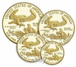 American Eagle 2021 Gold Proof Four-Coin Set Item 21EFN Confirmed+Trusted Seller