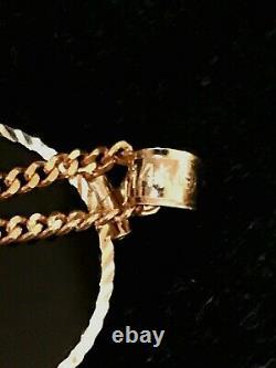 American Eagle $5 GOLD COIN NECKLACE- 1/10 oz- 14kt Black Onyx BEZEL+ 14kt CHAIN