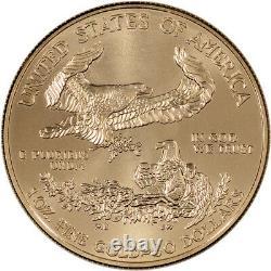 American Gold Eagle (1 oz) $50 BU Random Date Three (3) Coins
