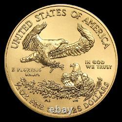 Ch/gem Bu 2020 1/2 Oz. $25 American Eagle Gold United States Coin