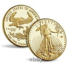 End of World War II v75 American Eagle Gold Proof Coin. PCGS 70