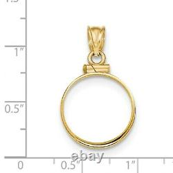 Genuine 14k Yellow Gold 1/10th oz American Eagle Screw Top Coin Bezel