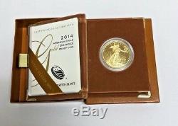 Gold 1oz American Eagle $50 Random Date Proof Gold American Eagle Box & Cert