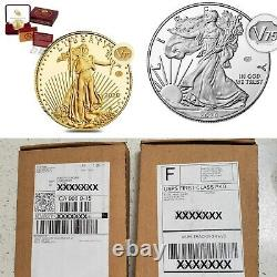IN HAND 2020 End of World War II 75th Anniv American Eagle Gold & Silver Proof