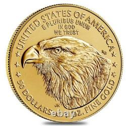 Lot of 10 2021 1 oz Gold American Eagle $50 Coin BU Type 2