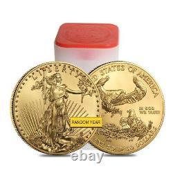 Lot of 2 1 oz Gold American Eagle $50 Coin BU (Random Year)