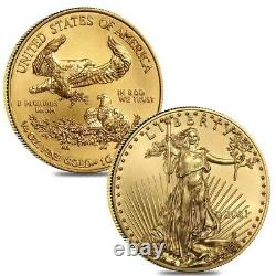 Lot of 2 2021 1/4 oz Gold American Eagle $10 Coin BU