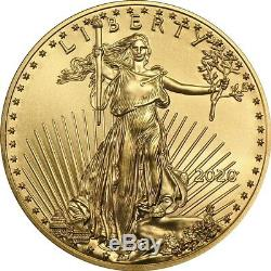 Lot of 20 2020 1 oz Gold American Eagle Coin Brilliant Uncirculated