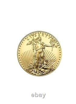 Lot of 3 Gold 2021 US 1 oz American Eagle $50 Gold Coins