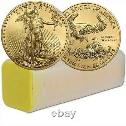 Lot of 40 2021 1/2 oz Gold American Eagle Coin BU In US Mint Tube PRE-SALE