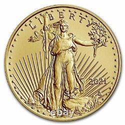 Pre-Sale 2021 1/10 oz American Gold Eagle MS-70 PCGS (FS, Type 2)