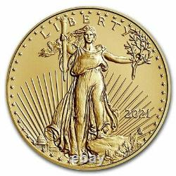 Pre-Sale 2021 1/2 oz American Gold Eagle MS-70 PCGS (FirstStrike, Type 2)