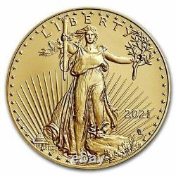 Pre-Sale 2021 1 oz American Gold Eagle MS-70 PCGS (FS, Black, Type 2)