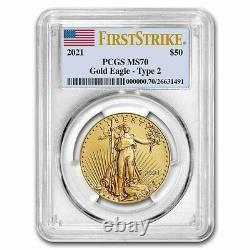 Pre-Sale 2021 1 oz American Gold Eagle MS-70 PCGS (FirstStrike, Type 2)
