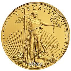 USA 10 $ American Eagle 2021 Gold Anlagemünze 1/4 Oz Gold ST