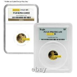 1/10 Oz 5 $ Proof Gold American Eagle Ngc/pcgs Pf 69 (année De Rando)