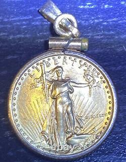 1/10 Oz American Eagle Gold Coin Pendentif Collier Préproprié