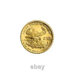 1/10 Oz Année Aléatoire American Eagle Proof Gold Coin