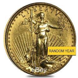 1/10 Oz D'or American Eagle Pièce De 5 $ (abrasions, Aléatoire Année)