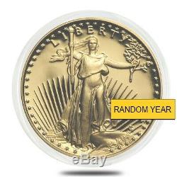 1/10 Oz D'or American Eagle Proof En Cap (random Année)