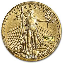 1/10 Oz Gold American Eagle Ms-70 Pcgs (random Year) Sku #83506