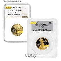 1/2 Oz 25 $ Proof Gold American Eagle Ngc/pcgs Pf 69 (année Aléatoire)